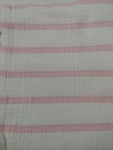 Aden by Aden & Anais Baby Blanket Cotton Muslin white pink wide stripes - $11.87
