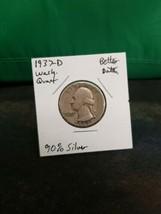1937-D Washington Quarter Better Date 90% Silver!!! LOOK!!!  - $7.92