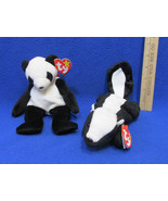TY Beanie Babies Plush Original Stuffed Animals 1995 Stinky & 1997 Fortu... - $12.86