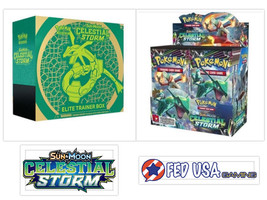 Pokemon Celestial Storm Booster Box + Elite Trainer Box Bundle Sun & Moo... - $144.95