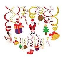 Kristin Paradise 30Ct Merry Christmas Hanging Swirl Decorations, Xmas Pa... - $16.19