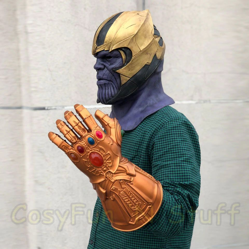 New Endgame Thanos Mask Infinity War Avengers EndGame Costume Mask Handmade image 6