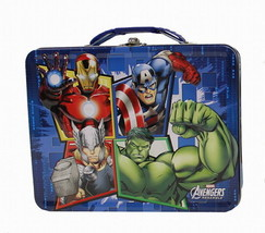 The Avengers Assemble Embossed Large Carry All Tin Tote Lunchbox Style A... - $13.50