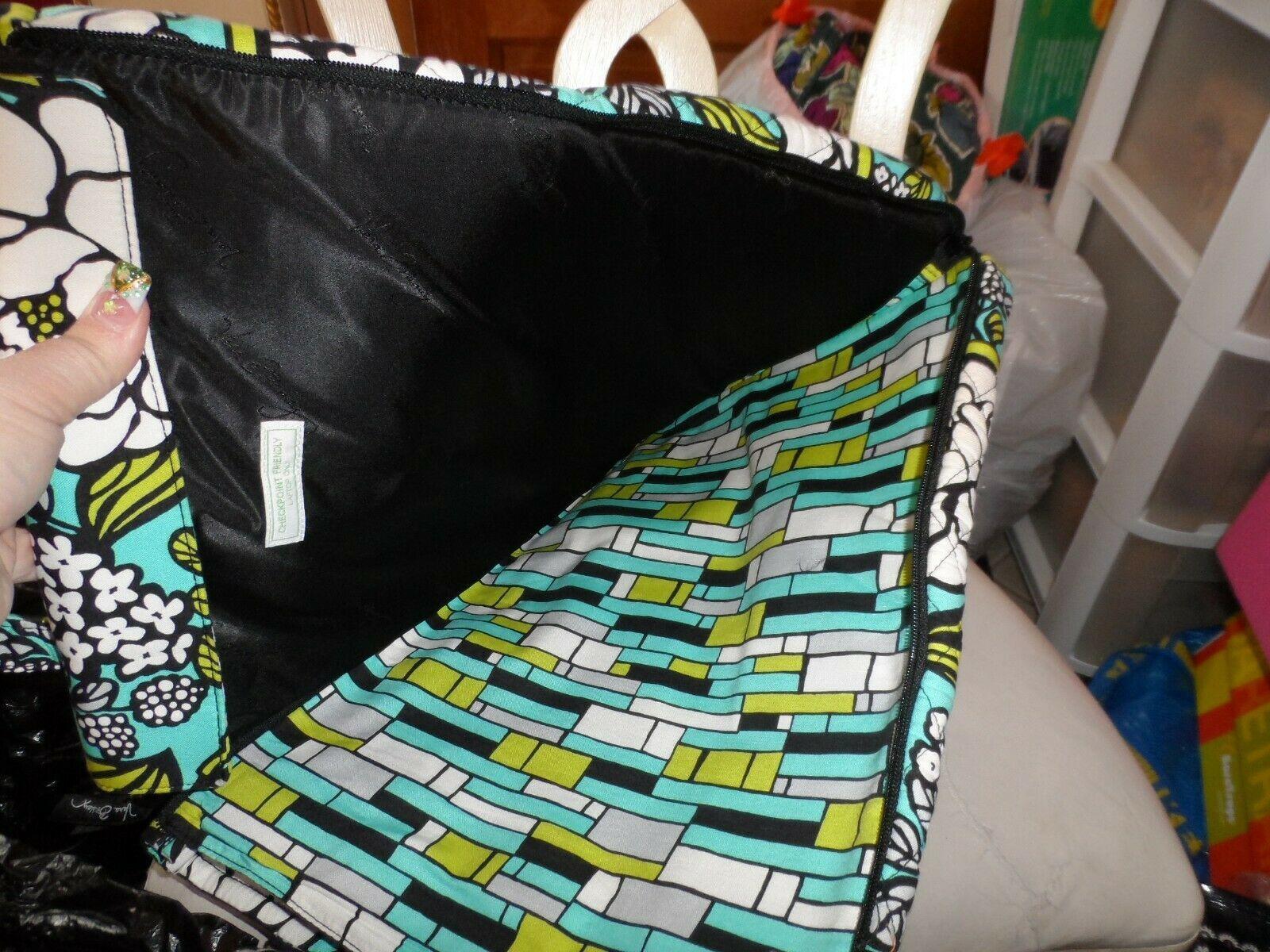 Vera Bradley laptop TRavel Tote In Island Blooms EUC image 4