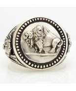 Buffalo Nickel Mens Coin ring sterling silver 925 - $100.98