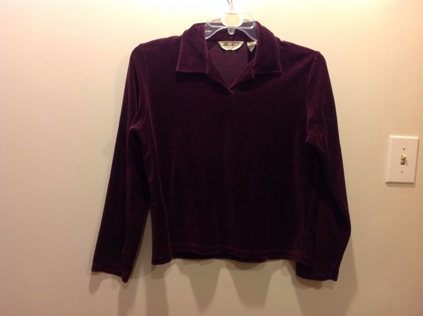 Eddie Bauer Velvety Deep Wine Purple Long Sleeve Shirt Sz Medium