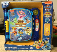 V Tech Paw Patrol Mighty Pups Touch And Teach Word Book - Brand New In Box - $35.64