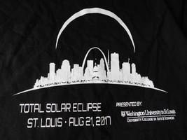 Total Solar Eclipse St. Louis Aug 21 2017 Mens T Shirt Size L - $8.90