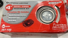 Lithonia Lighting 4in Only Includes Items In PIC!GU10 Nickel Recessed Gimbal Kit - $12.26