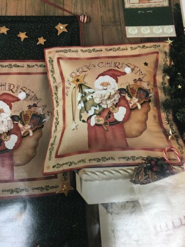 "Daisy Kingdom 1 Country Santa Panel 18"" x 45"" NIP Craft Banner or Pillow 1996"