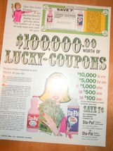 Vintage Sta-Puf Fabric Softner Lucky Coupons Pr... - $8.99