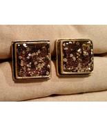 Mens Custom Hand Crafted GOLD MICA GOLD TONE Cufflinks - $34.60