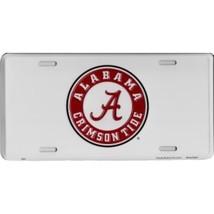 Alabama Crimson Tide White Embossed Metal License Plate Auto Tag Sign - $6.95