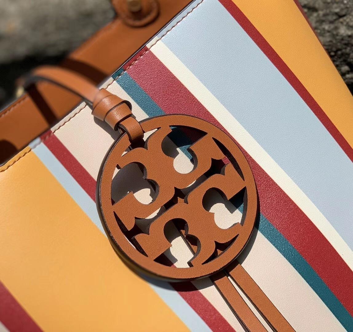 Tory Burch Miller Stripe Bucket Bag