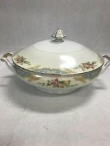 Japan casserole lid serving bowl Mid Century Modern NORITAKE M floral  1... - $51.47