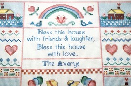 Counted Cross Stitch Kit Bless This House Sampler Kit 11 x 14 in Dimensions - $15.23