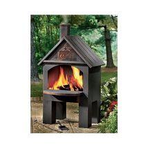 Cabin Cooking Steel Chiminea Patio Fireplace Backyard Weather Resistant - $188.03