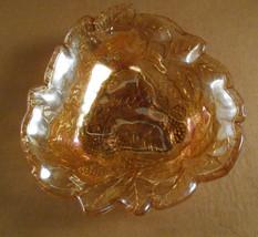 Vintage Indiana Glass Marigold Irisdescent Glass Dish Loganberry Pattern    - $3.29