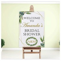 Green Leaves Bridal Shower Sign, Greenery, Welcome Sign, Green Leaf Garland Deco