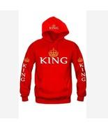 Fashion Long Sleeve King Queen Hoodies Casual Sweatshirt Sweater with Hood - $25.28