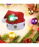 Kids Christmas Santa Hat Xmas Led Snowman Cap Reindeer Red Plush Costume... - $3.99+