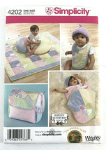 Simplicity Pattern 4202 Shirley Botsford Baby Accessories Quilt Wrap Bib... - $3.99