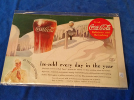 "1935 Origianl Coca Cola Magazine ad Ice Cold Glass 6 3/4""x10"" - $17.05"