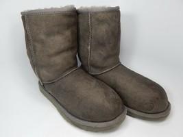 Ugg Australia Klassisch Kurz Schafspelz Grau Stiefel Größe 7 M (B) Eu 38 Modell