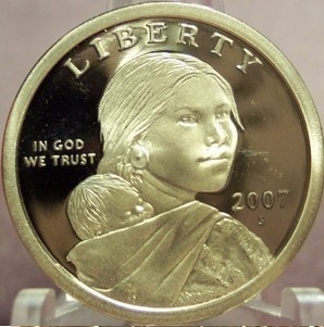 Primary image for 2007-S Proof Sacagawea Dollar PF 65 DCAM #0330