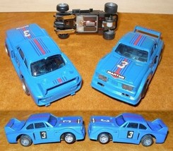 1980 Ideal Tcr Slotted Slot Car Bmw Blu&Red #3 Cool Nos - $37.61