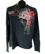 Aeropostale Womens Black Graphic Phoenix Long Sleeve T-shirt Size S/P - $19.95