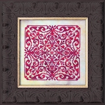 Red Velvet mandala cross stitch chart chart Ink Circles  - $8.00