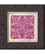 Red Velvet mandala cross stitch chart chart Ink Circles  - $8.00