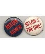 Two Nixon Agnew Pinbacks - $0.99