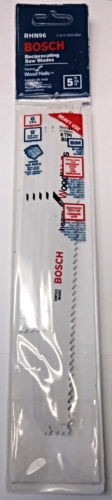 "Primary image for Bosch RHN96 9"" x 6 TPI Heavy For Wood With Nails Reciprocating Saw Blades 5 Pack"