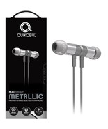 Quikcell Magsmart Full Metal Bluetooth Headset with Unique Play/Pause Co... - $38.25