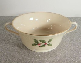 Lenox HOLIDAY PRESIDENTIAL Holly Berry Cream Soup Bowl Footed Cup Special - $29.69