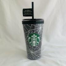 Starbucks  Glow In The Dark 16 oz Tumbler Spider Webs Cup Grande 2021 Ha... - $35.63