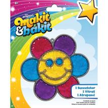 Makit & Bakit Suncatcher Kit-Glitter Smiley Face Flower (Pack of 6) - $46.92