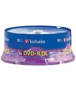 Verbatim 95484 8.5GB Dual-Layer DVD+Rs (15-ct Spindle) - $43.02