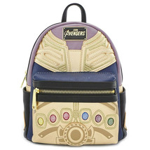 Avengers Endgame Movie Thanos Infinity Gauntlet Mini Backpack Purple - $86.98
