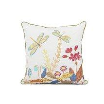 REMSOFT Embroidery Linen Cotton Retro Vintage Dragonfly Floral Pattern P... - $28.42