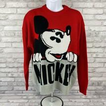 Womens Vintage Walt Disney Mickey & Co Red Gray Mickey Mouse Sweater Siz... - $47.94