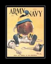 Vintage 1967 Army Navy Football Program Poster, Mlitary Office Wall Art ... - $19.99+