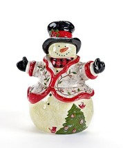 "10.9"" high Snowman Shaped Ceramic Cookie Jar"