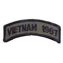Vietnam 1967 Od Subdued Shoulder Rocker Tab Embroidered Military Patch - $23.74