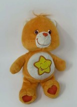 "Care Bears Orange Plush Laugh a Lot with Star 8"" Bear 2003 Stuffed Animal - $9.88"
