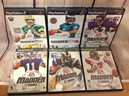 Lot of 6 Playstation 2 Madden NFL 2002 2003 2004 2005 06 09 Football Games - $29.99