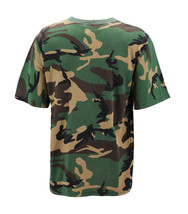 Men's Made in USA Crewneck Camo 100% Cotton Shirt Lightweight Army T-shirt image 3