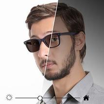 Blue Light Blocking Glasses, Photochromic Brown Sunglasses, Anti UV, Anti Glare  image 7
